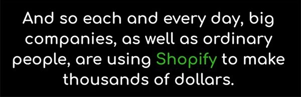 ecom cash is about Shopify