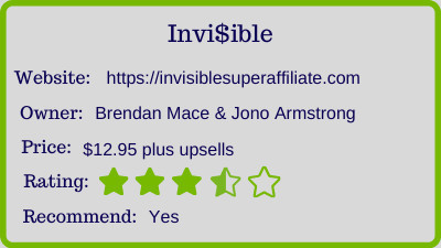 Invisible review rating