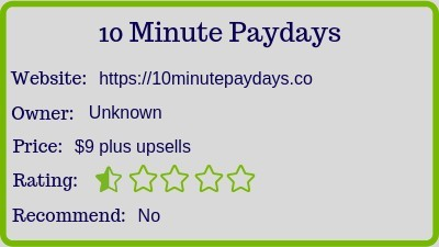 The 10 Minute Paydays review (rating)