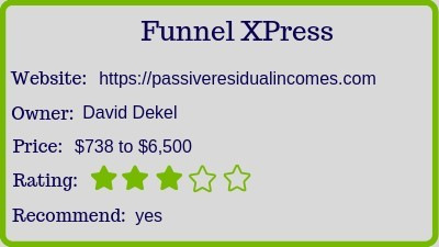 the funnel X press review rating