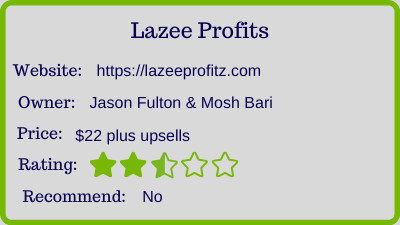 Lazee profitz review - rating