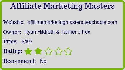 The Affiliate Marketing Masters review rating