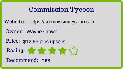 commission tycoon review rating
