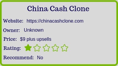 The China Cash Clone. (Review) rating