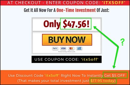discount offer of $5 off