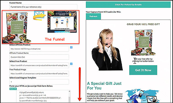 your completed funnel with landing pages