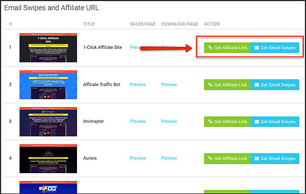 links to affiliate networks