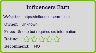 influencer earn review - rating