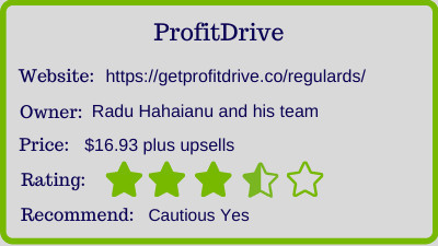 the profit drive review - rating