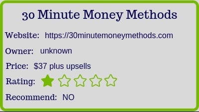 What Is The 30 Minute Money Methods review (rating)