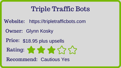 triple traffic bots review - rating