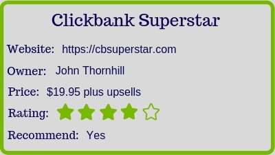 the Clickbank Superstar? (Review)