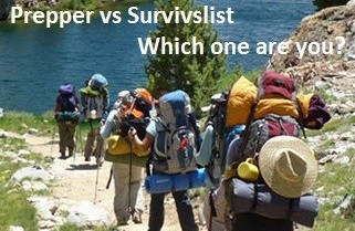 Prepper vs Survivalist