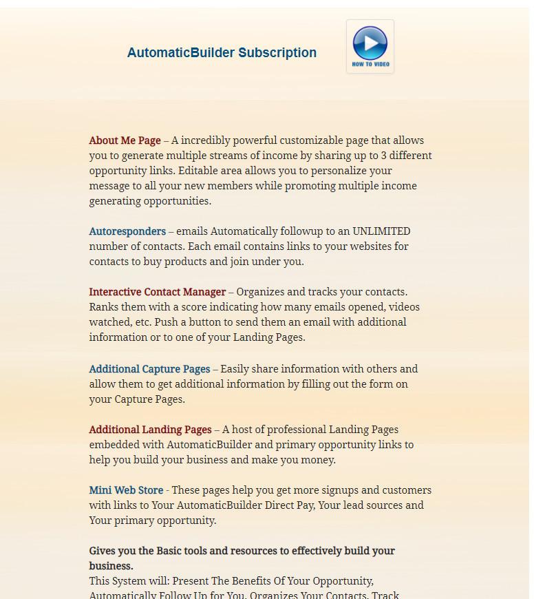 Automatic Builder Instant Payment Sites