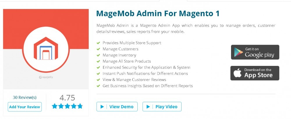 Best Apps in the Magento Marketplace: MageMob Admin