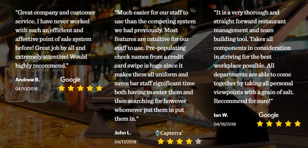 Best POS for restaurants - Upserve reviews