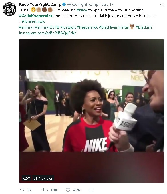 Nike Colin Kaepernick ad - Jennifer Lewis