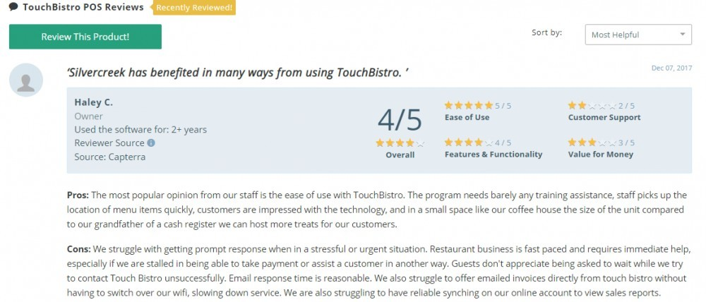Best POS for restaurants - Touchbistro review