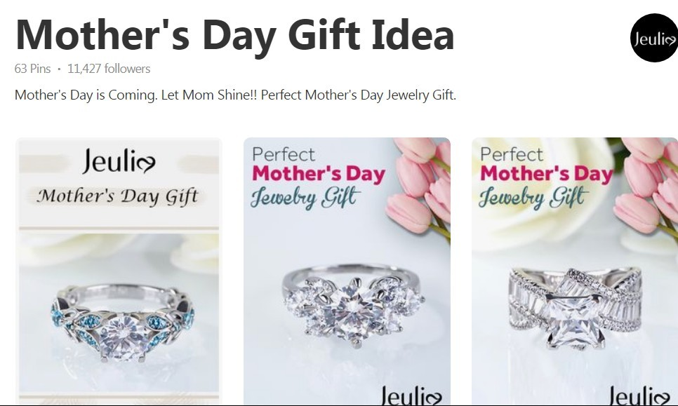Jeulia - Mother's Day promotion board