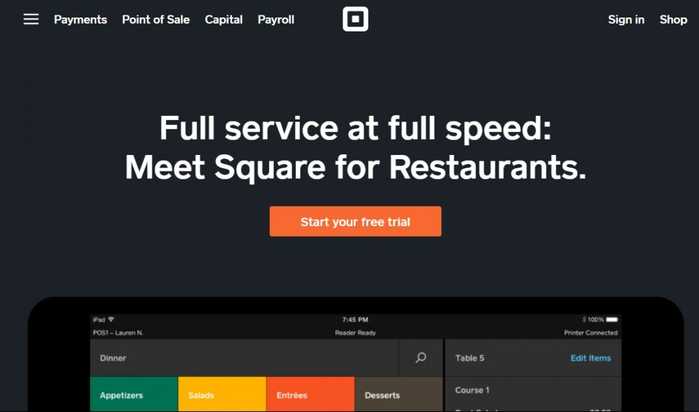 Best POS for restaurants - Square