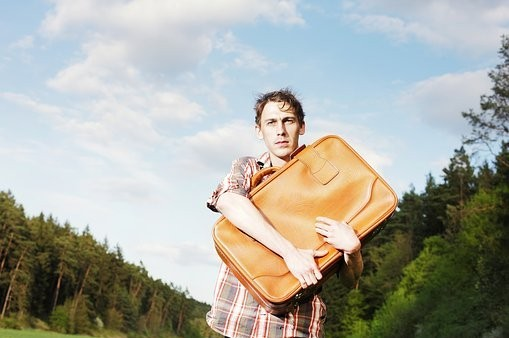 holding on to baggage