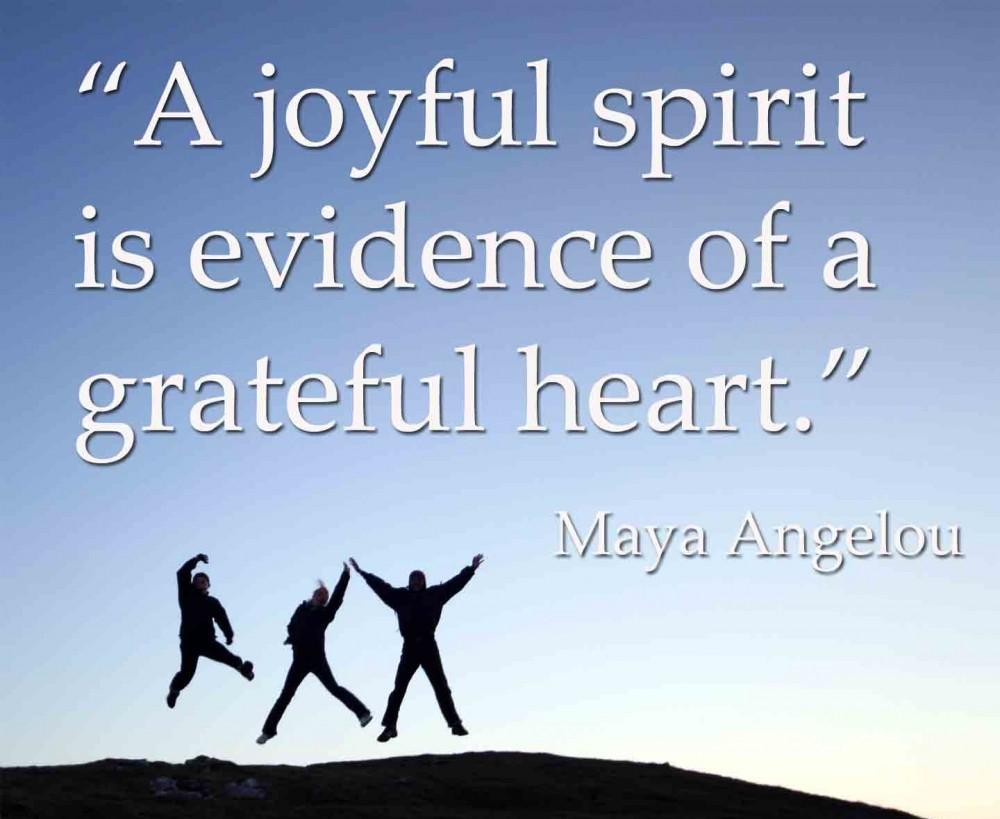 grateful heart Maya Angelou