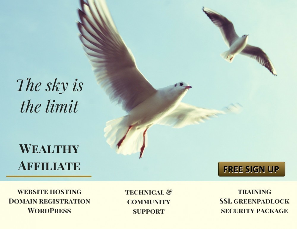 The sky is the limit - Wealthy Affiliate Promo
