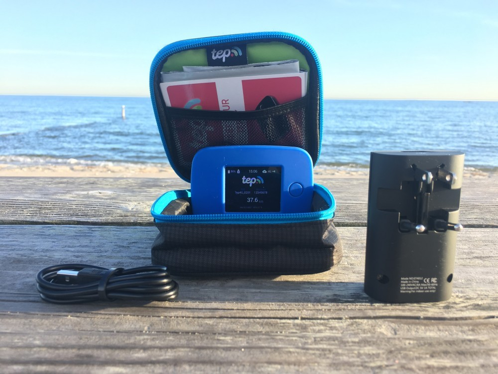 tep pocket wifi beach