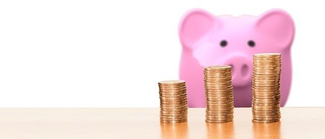 more money piggy bank coins