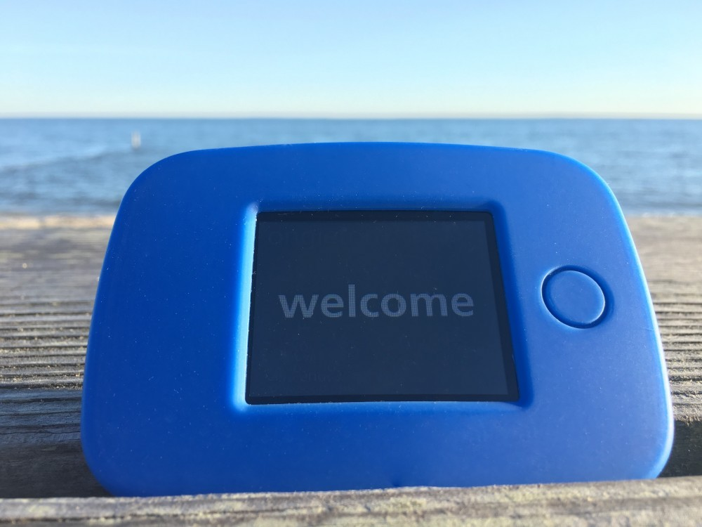 tep pocket wifi welcome message beach
