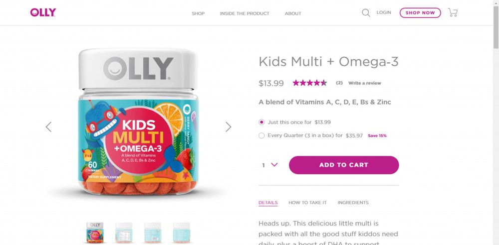 Olly Vitamins Kids Multi Plus Omega-3 Review