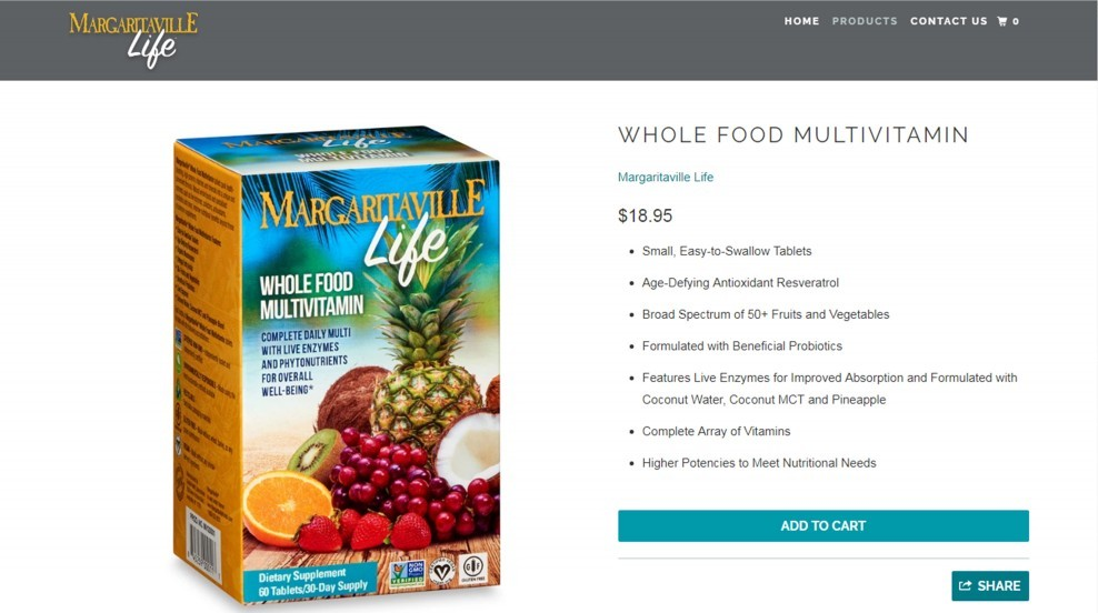 Nature's Plus Margaritaville Life Whole Food Multivitamin Review