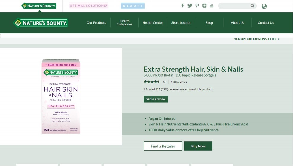 Natures Bounty Brand Reviews – Natures Bounty Hair Skin And Nails Review
