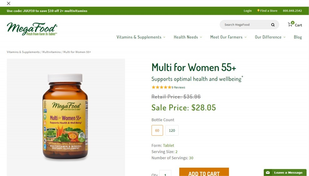 MegaFood Multi for Women 55 Plus Review – Among The Best Multivitamins For Women After 50