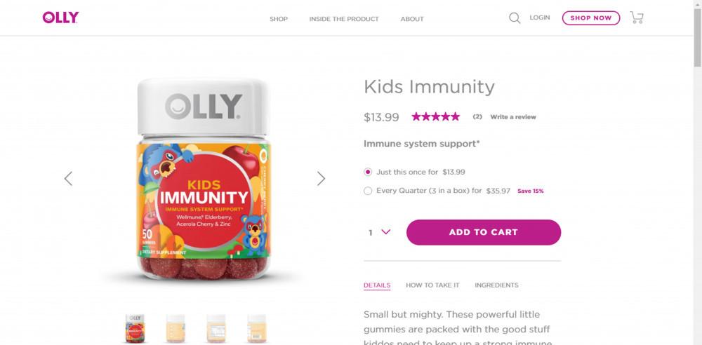 Olly Vitamins Kids Immunity Review