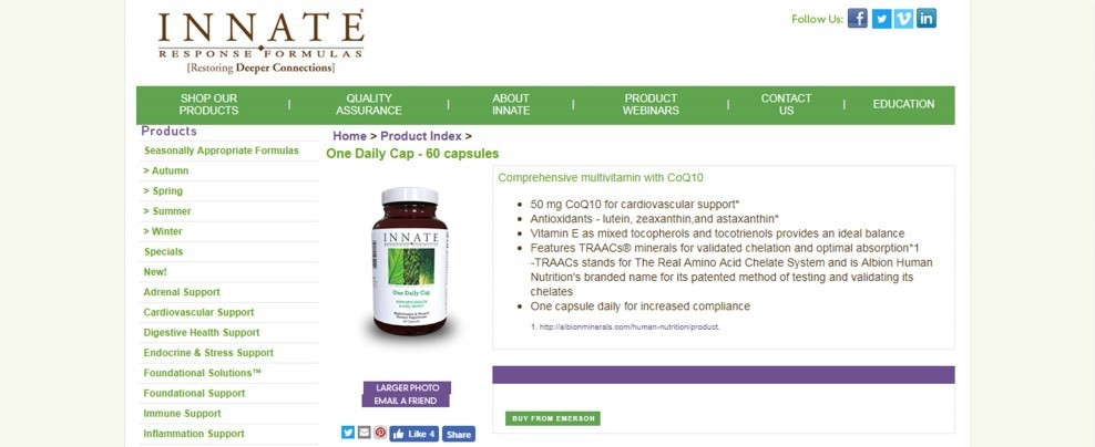 Innate Response Formulas One Daily Cap Review