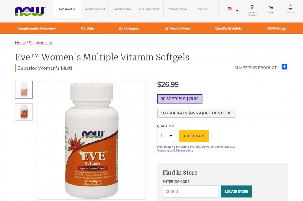 NOW Foods Eve Review (Softgels)