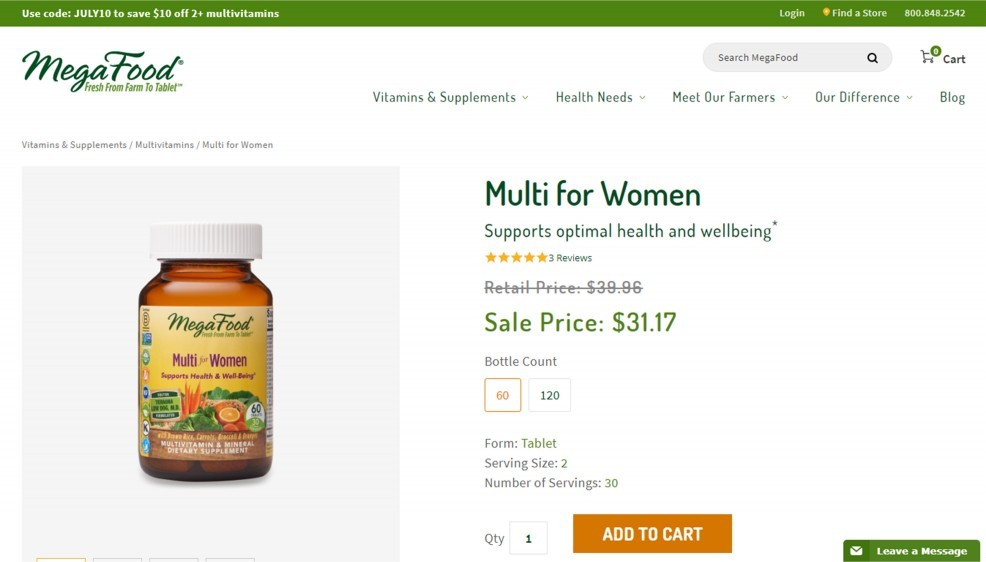 MegaFood Multi For Women Review – A Supplement Among The Best Multivitamin For Women
