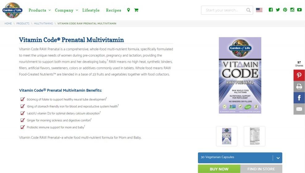 Garden of Life Vitamin Code Raw Prenatal Review – The Best Prenatal And Postnatal Multivitamin