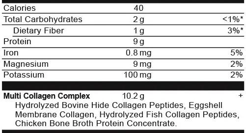 Ancient Nutrition Multi Collagen Protein Chocolate Ingredients