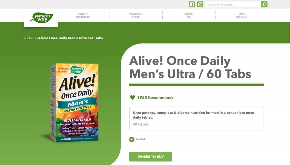 Nature's Way Alive! Once Daily Men's Ultra Review