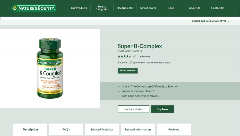 Nature Bounty Brand Review – Natures Bounty Super B-Complex Review