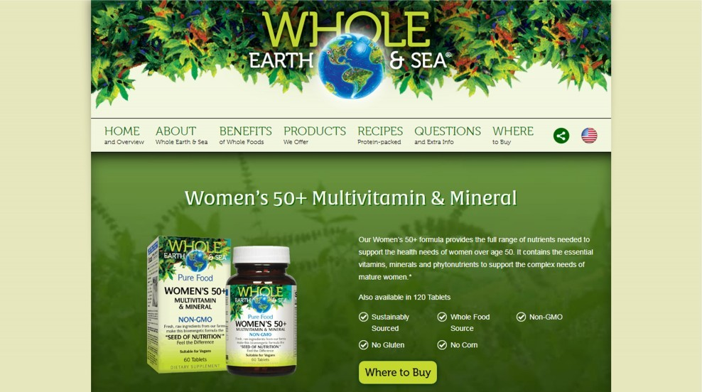 Natural Factors Whole Earth And Sea Womens 50 Plus Review