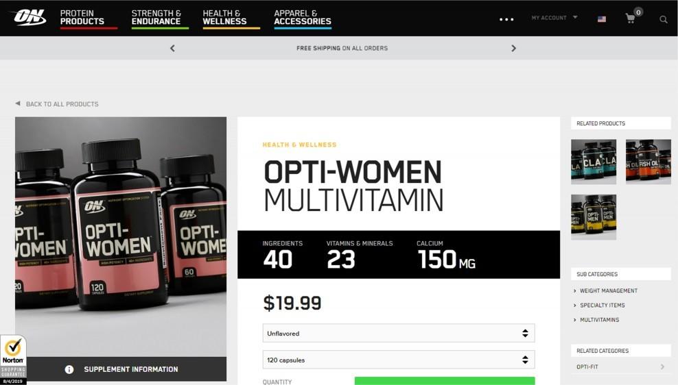 Optimum Nutrition Opti-Women Review