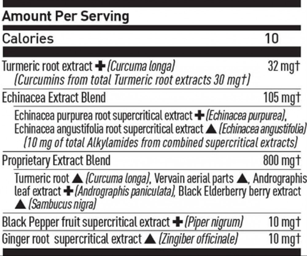 Gaia Turmeric Supreme Immune A.S.A.P. Ingredients (Supplement Facts)