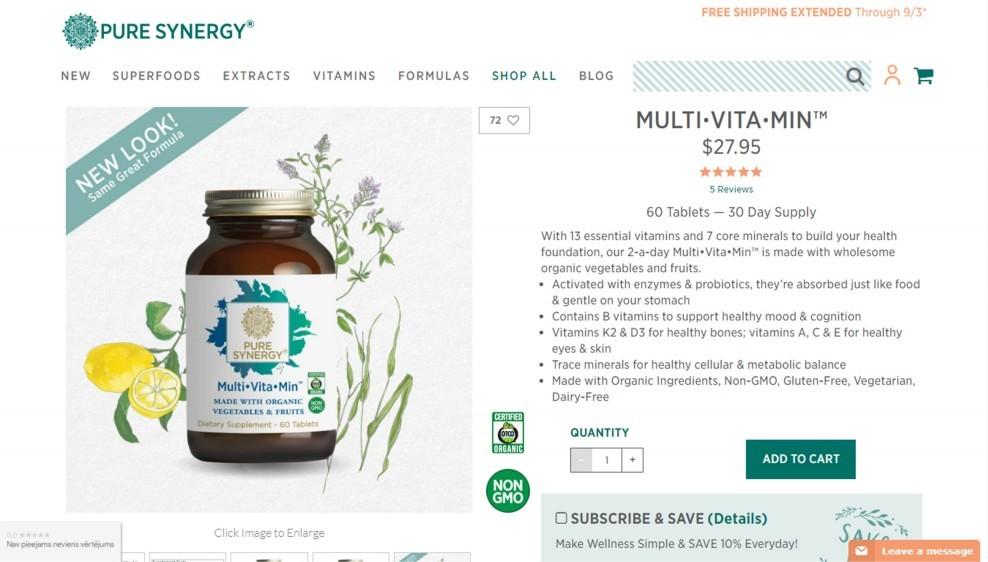 The Synergy Company Organic Multi Vita-Min Review