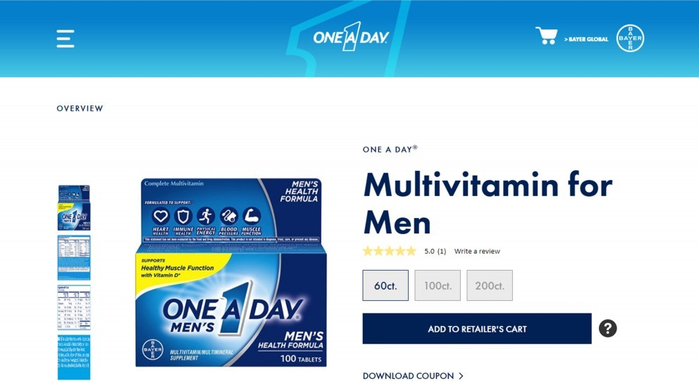 One A Day Men's Health Formula Review (One Of The Worst Multivitamin Supplements To Go For)