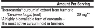 CurcuminRich Theracurmin Ingredients (Supplement Facts)