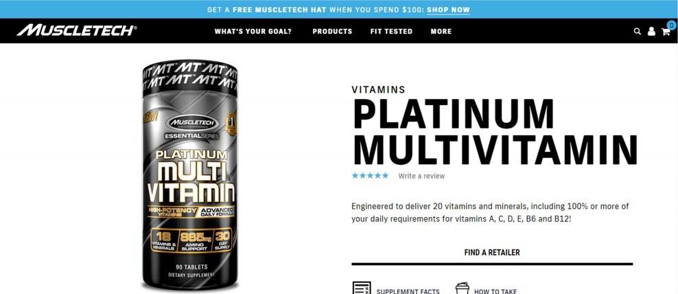Muscletech Essential Series Platinum Multivitamin Review