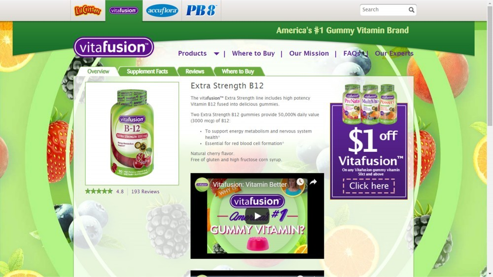 Vitafusion Extra Strength B12 Review